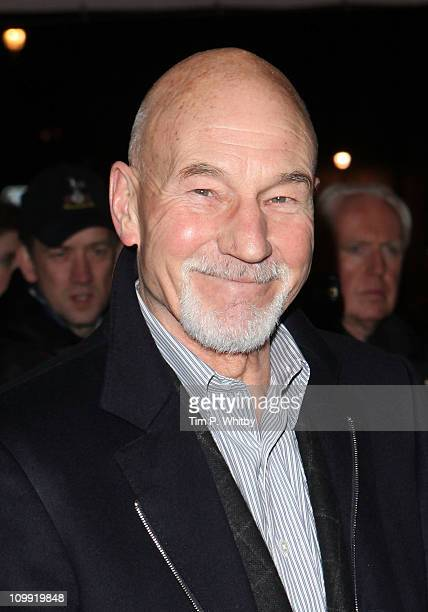Patrick Stewart attends the Gala Preview of 'Flare Path' starring Sienna Miller at Theatre Royal on March 10 2011 in London England