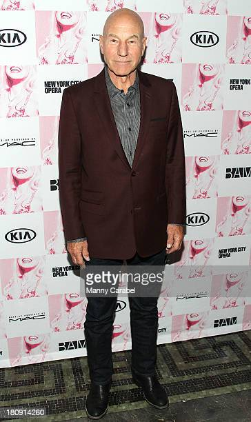 """Patrick Stewart attends the opening night of """"Anna Nicole The Opera"""" at Howard Gilman Opera House, BAM on September 17, 2013 in New York City."""