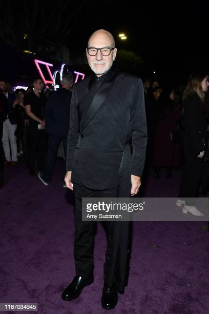 """Patrick Stewart attends the premiere of Columbia Pictures' """"Charlie's Angels"""" at Westwood Regency Theater on November 11, 2019 in Los Angeles,..."""