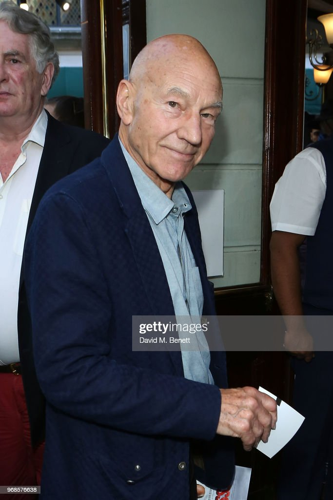 Patrick Stewart attends the press night performance of 'Pressure' at The Ambassadors Theatre on June 6, 2018 in London, England.