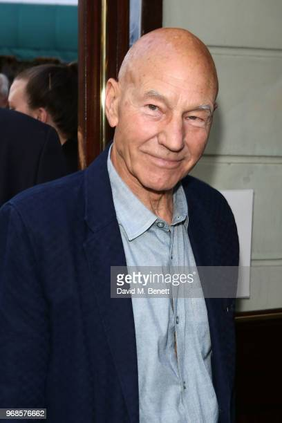 Patrick Stewart attends the press night performance of 'Pressure' at The Ambassadors Theatre on June 6 2018 in London England