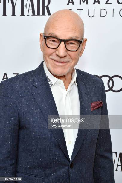 Patrick Stewart attends The Vanity Fair x Amazon Studios 2020 Awards Season Celebration at San Vicente Bungalows on January 04 2020 in West Hollywood...