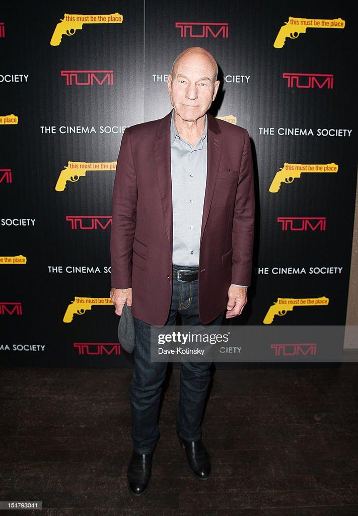 Patrick Stewart attends The Weinstein Company With The Cinema Society And Tumi Host A Screening Of 'This Must Be the Place' at Tribeca Grand Hotel on October 25, 2012 in New York City.