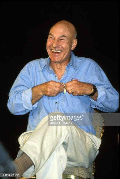 Patrick Stewart during Galaxy Ball 2001 to Benefit the Downs Syndrome Association of Los Angeles at Sheraton Universal Hotel in Universal City...
