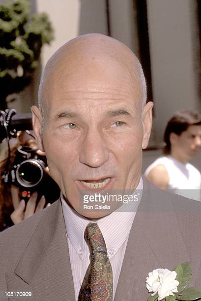 Patrick Stewart during Marina Sirtis Michael Lamper's Wedding at St Sophia Cathedral in Los Angeles California United States