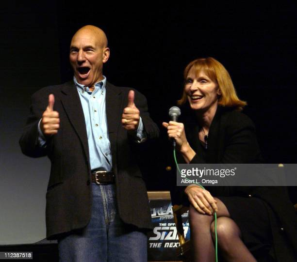 Patrick Stewart Gates McFadden during 15th Anniversary of Star Trek The Next Generation Convention Day 2 at Pasadena Civic Auditorium in Pasadena...