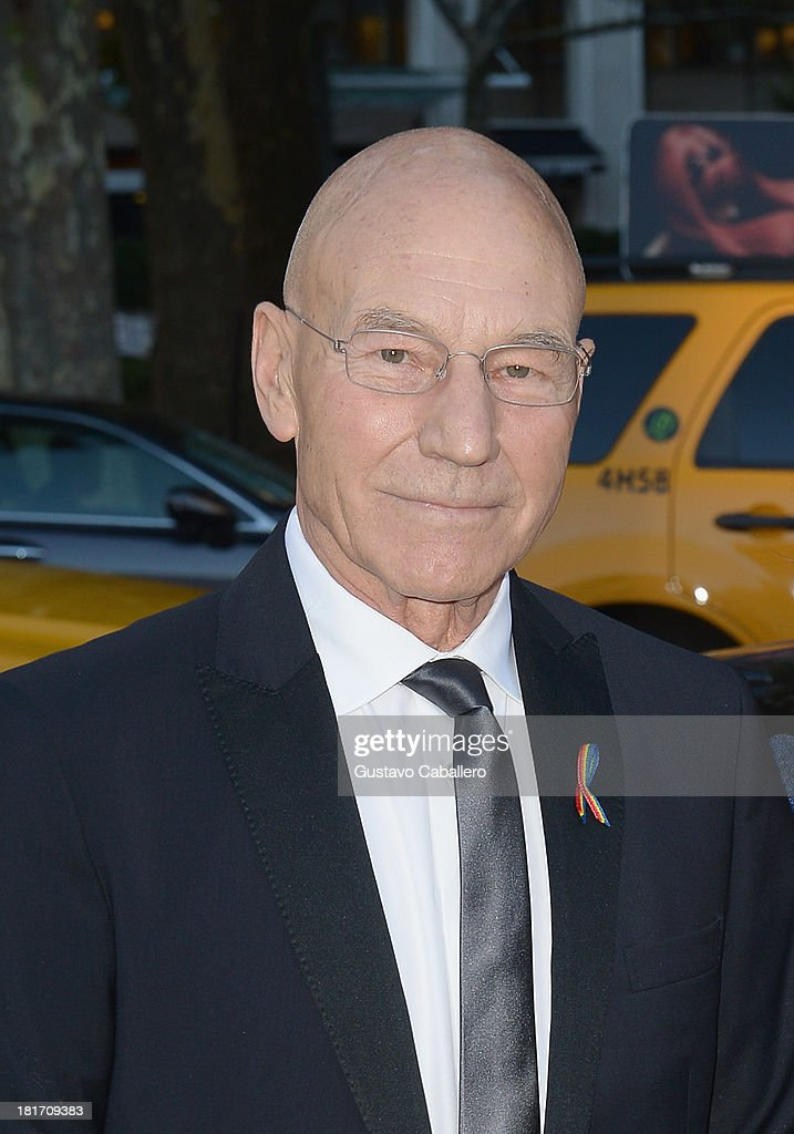 Patrick Stewart is seen New York on September 23, 2013 in New York City.