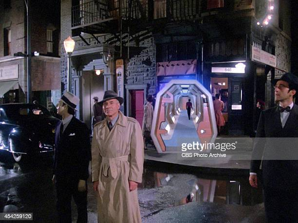 Patrick Stewart plays Captain JeanLuc Picard entering the holodeck in the Star Trek The Next Generation episode The Big Goodbye Season 1 episode 11...