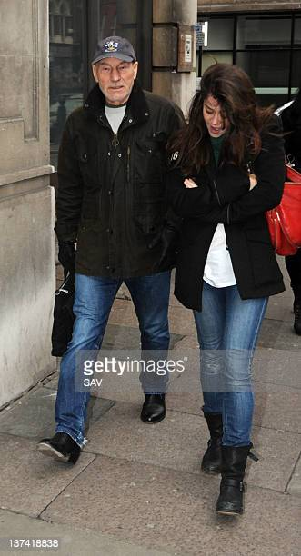 Patrick Stewart sighting on January 20 2012 in London England