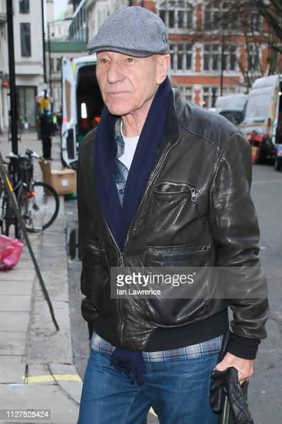 Patrick Stewart visting Magic Studios on February 05 2019 in London England