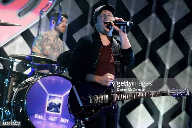 Patrick Stump and Andy Hurley of Fall Out Boy perform onstage during KISS 108's Jingle Ball 2017 presented by Capital One at TD Garden on December 10...