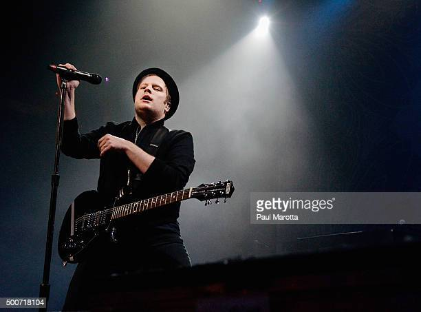 Patrick Stump and Fall Out Boy perform at Mix 1041 Not So Silent Night Boston at House of Blues on December 9 2015 in Boston Massachusetts