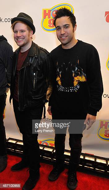 Patrick Stump and Pete Wentz of Fall Out Boy attend Hot 995's Jingle Ball 2013 presented by Overstockcom at Verizon Center on December 16 2013 in...