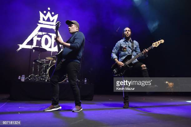 Patrick Stump and Pete Wentz of Fall Out Boy perform onstage at Stay Amped 'A Concert to End Gun Violence' at The Anthem on March 23 2018 in...