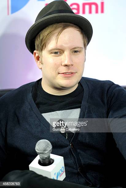 Patrick Stump of Fall Out Boy attends Y100's Jingle Ball 2013 Presented by Jam Audio Collection at BBT Center on December 20 2013 in Miami Florida