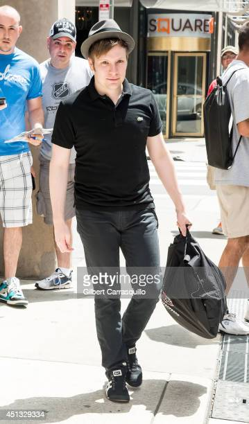 Patrick Stump of Fall Out Boy is seen leaving his hotel on June 27 2014 in Philadelphia Pennsylvania