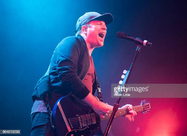 Patrick Stump of Fall Out Boy performs at Electric Brixton on January 11 2018 in London England