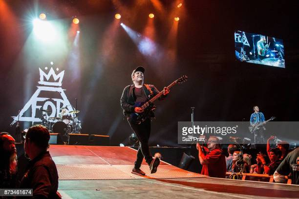 Patrick Stump of Fall Out Boy performs at KeyArena on November 12 2017 in Seattle Washington