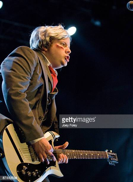 Patrick Stump of Fall Out Boy performs at The Lawn at White River State Park on May 15 2009 in Indianapolis Indiana