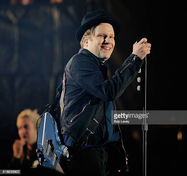 Patrick Stump of Fall Out Boy performs at the NCAA March Madness Music Festival 2016 at Discovery Green on April 1 2016 in Houston Texas
