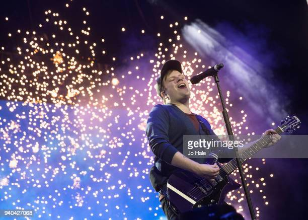 Patrick Stump of Fall Out Boy performs at The O2 Arena on March 31 2018 in London England