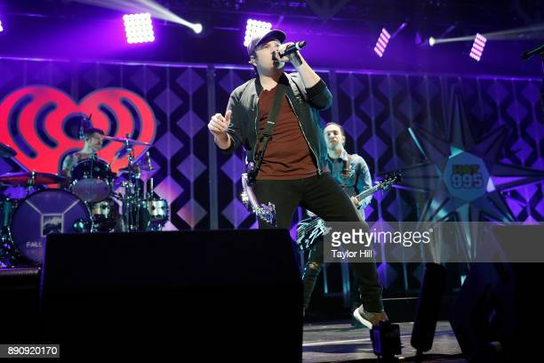 Patrick Stump of Fall Out Boy performs during the 2017 Z100 Jingle Ball on December 11 2017 in Washington DC