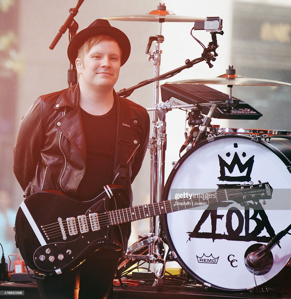Patrick Stump of Fall Out Boy performs on NBC's 'Today' at the NBC's TODAY Show on June 12, 2015 in New York, New York.