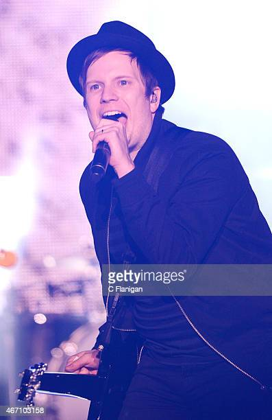 Patrick Stump of Fall Out Boy performs onstage at the 2015 mtvU Woodie Awards on March 20 2015 in Austin Texas