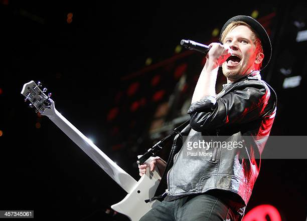 Patrick Stump of Fall Out Boy performs onstage at the Hot 995's Jingle Ball 2013 at Verizon Center on December 16 2013 in Washington DC