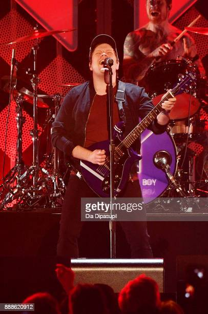Patrick Stump of Fall Out Boy performs onstage at the Z100's Jingle Ball 2017 on December 8 2017 in New York City