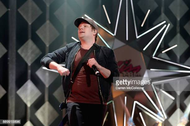 Patrick Stump of Fall Out Boy performs onstage during KISS 108's Jingle Ball 2017 presented by Capital One at TD Garden on December 10 2017 in Boston...