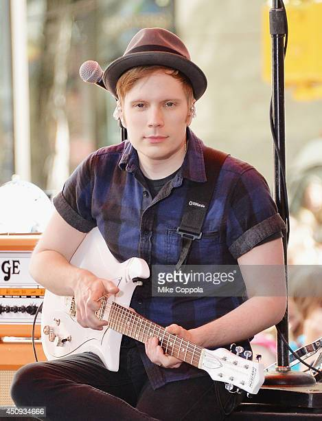 Patrick Stump of the band Fall Out Boy perform on NBC's 'Today' at the NBC's TODAY Show on June 20 2014 in New York New York