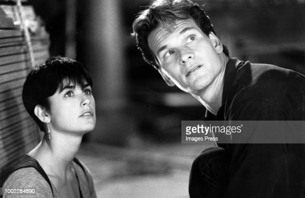 LOS ANGELES CIRCA 1990 Patrick Swayze and Demi Moore star as Sam Wheat and Molly Jensen in the suspense thriller Ghost directed by Jerry Zucker