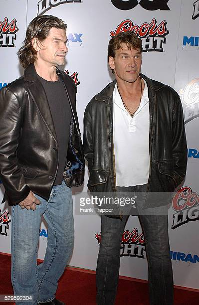 Patrick Swayze and his brother Don arrive at the premiere of Kill Bill Vol 2