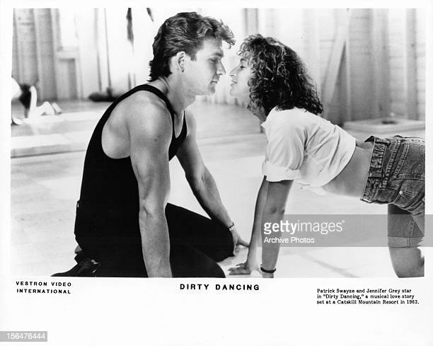 Patrick Swayze and Jennifer Grey in a scene from the film 'Dirty Dancing' 1987