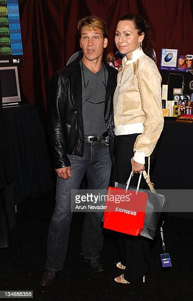 Patrick Swayze and Minnie Driver during The 18th Annual IFP Independent Spirit Awards Official Talent Gift Bag Produced by On 3 Productions at Santa...