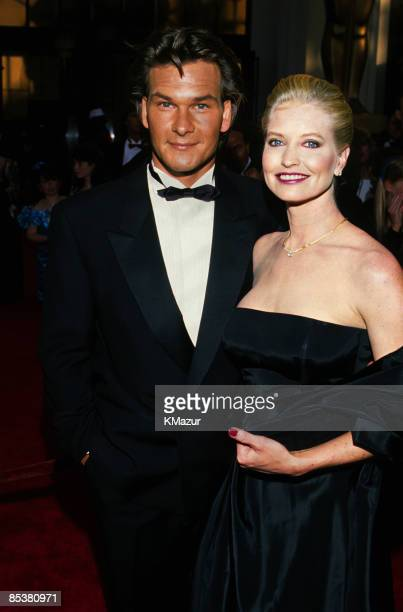 Patrick Swayze and wife Lisa Niemi attend the 61st Annual Academy Awards on March 29, 1989 in Los Angeles California.