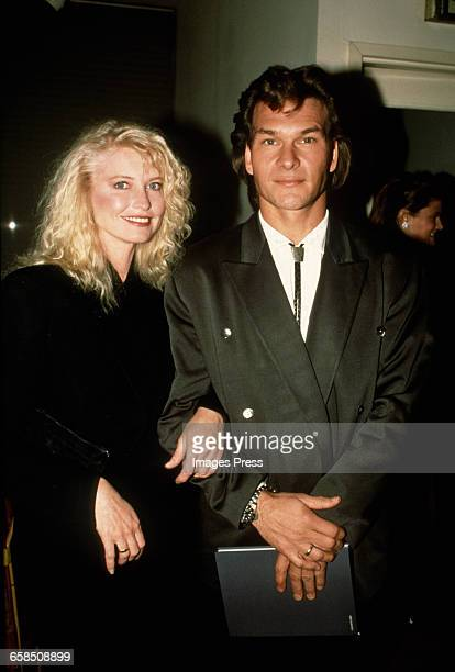 Patrick Swayze and wife Lisa Niemi circa 1987 in New York City