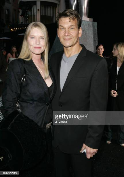 Patrick Swayze and wife Lisa Niemi during Herb Ritts and Mario Testino Receive Rodeo Drive Walk of Style Award Red Carpet at Rodeo Drive in Beverly...