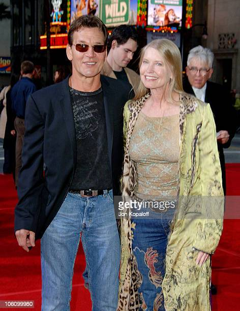 Patrick Swayze and wife Lisa Niemi during 'Mission Impossible III' Los Angeles Fan Screening Arrivals at Chinese Theater in Hollywood California...