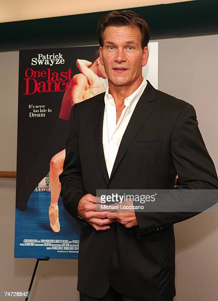 Patrick Swayze costar/cowriter/coproducer at the Patrick Swayze and Wife Lisa Niemi Celebrate Their New Film One Last Dance at The Joyce Theater in...