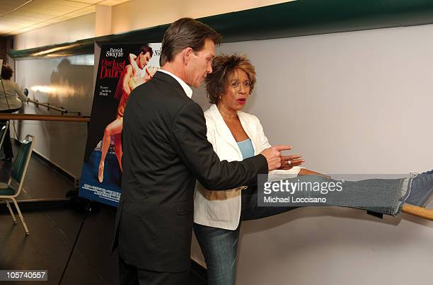 Patrick Swayze costar/cowriter/coproducer during Patrick Swayze and Wife Lisa Niemi Celebrate Their New Film One Last Dance at The Joyce Theater in...