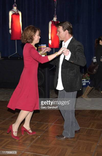Patrick Swayze dances with Marianne Balay Assistant Vice President of Medical Affairs at the 'Day Of Dance For Heart Health'