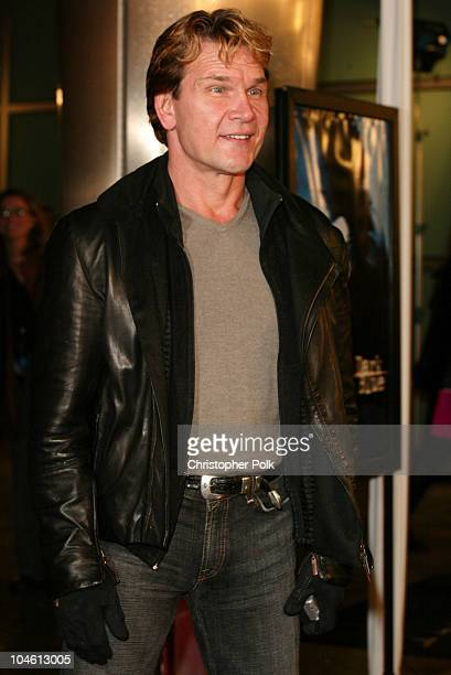 Patrick Swayze during 'Dark Blue' Premiere at Cinerama Dome in Hollywood CA United States