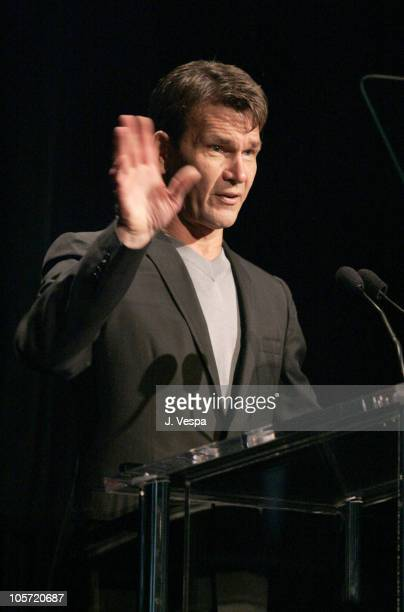 Patrick Swayze during Herb Ritts and Mario Testino Receive Rodeo Drive Walk of Style Award Inside at Rodeo Drive in Beverly Hills California United...