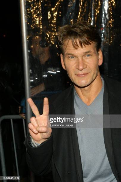 Patrick Swayze during Mona Lisa Smile New York Premiere at Ziegfeld Theater in New York City, New York, United States.
