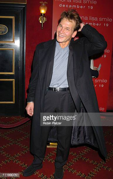 "Patrick Swayze during ""Mona Lisa Smile"" New York Premiere at Ziegfeld Theater in New York City, New York, United States."