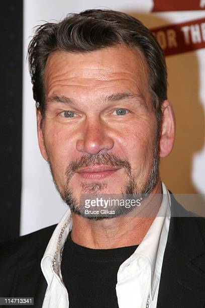 Patrick Swayze during Opening Night Curtain Call and Press Room for 'A Moon for the Misbegotten' April 9 2007 at The Brooks Atkinson Theatre in New...