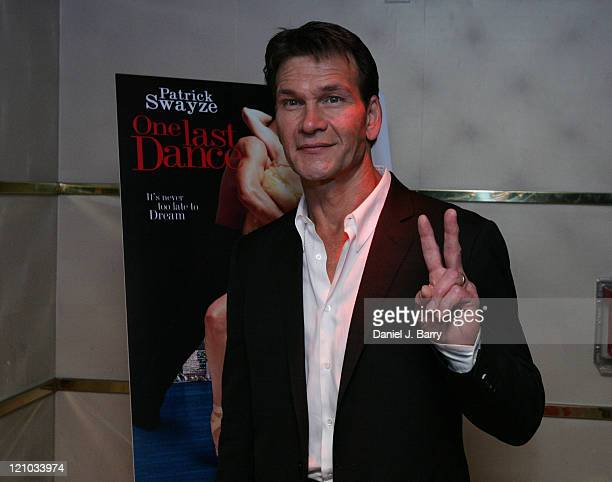 Patrick Swayze during Patrick Swayze and Wife Lisa Niemi Celebrate Their New Film One Last Dance at Marquee in New York City New York United States