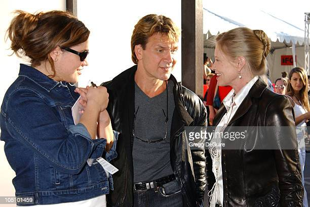 Patrick Swayze Lisa Niemi in the Express Suite during Express Suite at the 18th Annual IFP Independent Spirit Awards at Santa Monica Beach in Santa...